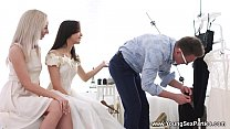 Young Sex Parties - Dress fitting and a threeway Stefy Shee, Michelle Can pornhub video