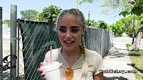 Hot blonde bangs stranger in abandoned house Thumbnail