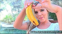 Addison IV outside blonde mature fingers banana's Thumb