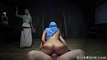 Arab cuckold and muslim girl dance Sneaking in the Base!