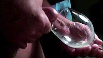 Glass of semen