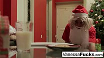 Vanessa Cage letting Santa violate her tight wet pussy's Thumb