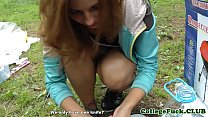 College babe fucked at outdoor bbq thumbnail