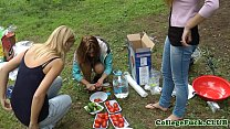 College babe fucked at outdoor bbq Image