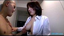 Busty Office Lady Giving Handjob For Naked Skinny Guy On The Corridor Vorschaubild