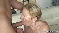 Kinky Old Chubby GILF Malya has a lucky day, gets to hop on a young dong preview image