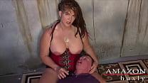 Saharra Huxly Abuses Slave Billy Thumbnail