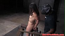 Bound bdsm sub disciplined with many toys