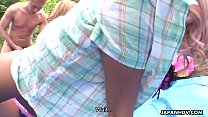 Tanned Japanese Girls Get Drilled Outdoors - 9Club.Top