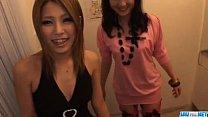 Akari Kimishima enjoys sharing cock with her fr...