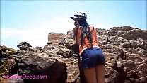 HD Heather Deep public outdoor deepthroat cum s...
