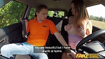 Fake Driving School Beautiful brunette Jenifer Jane bangs her instructor