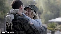 Eroticax Aj's Tender Reunion With Soldier James