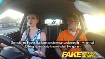 Fake Driving School Posh freaky redhead with big tits and ginger bush fucks Image