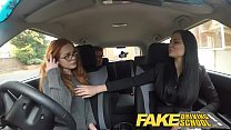 Fake Driving School readhead teen and busty MILF creampie صورة