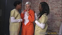 Jenna Ivory Gets Fucked By Her Black Lesbian Cellmates