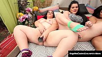 BBW Latina Angelina Castro Fingers With Plump Pussy Friends!