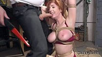 Busty chubby slave rough fucked