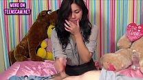 Latina teen gives first handjob thumbnail