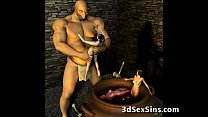 3D Ogres Cum On Lara Croft! Thumbnail
