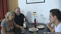 Czech blonde involved into threesome mature sex pornhub video