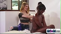Ebony Ana Foxxx licks Kristen Scotts pussy and facerides her