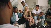 [perfect bubble butt] ⁃ BLACKED Kali Rose Gets Passed Around By Six BBCs thumbnail