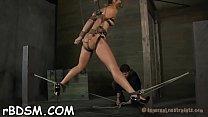 Caged up playgirl gets gratifying