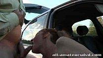 Public Deepthroat Milf Bonie Does 2 Guys in Car Park Amateur Reality