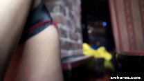 Amateur stripper fucks and grinds in POV at the club thumbnail