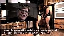 Dominatrix Mistress April   Slave Strap On Brai