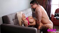 Inked Gurlz - Fake Tits Milf Get AssFucked For Promotion