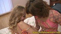 Lesbian pantyhose worshipper girls Vorschaubild