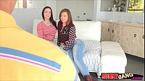Maddy Oreilly and Kendra Lust tag teaming one lucky cock