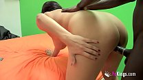 She talks to her brother while she's being fucked by big black cock!! صورة