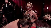 Hot slaves are tormented at party