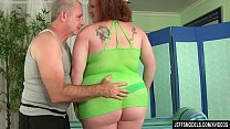 Redheaded Fat Girl Scarlett Raven has Her Fleshy Body and Cunt Massaged's Thumb