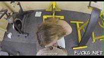 Pounding a slut on a spycam