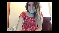 Horny young girl cum on webcam chat pornhub video