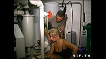 Young french blonde anal fucked in threesome with Papy Voyeur Vorschaubild