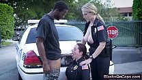 Nasty and busty police whores fucked hard by a ...