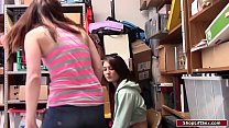 Shoplifter and her stepsis fuck officer