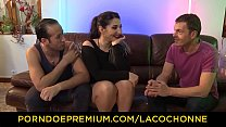 La Cochonne - Brunette French Amateur Mylene Johnson Shows Her Curves In Mmf Threesome