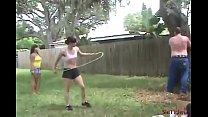 Public Whipping of Mikaela's Slave - Pathetic Slave got his Punishment