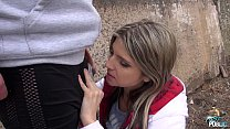 9982 Hot babe Gina Gerson takes a mouthful of cum outside preview