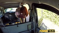 Fake Taxi Hairy redhead pussy gets fucked and cum splattered in taxi thumbnail
