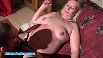 Kinky czech MILF lapdances for horny guy