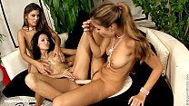 Hot threeway action on Sapphic Erotica featuring Peaches Cherie and Moon