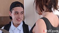 Watch hot MILF seduce young teen- Ivy Lebelle thumbnail