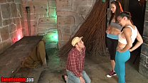 Alexis Grace and Michelle Peters Ballbusting CBT Femdom - czech street 96 thumbnail